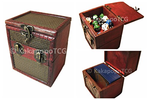 M01B-Wood-Single-Deck-and-Counter-Box-for-Deck-Protector-Storage-Trading-Cards-TCG-Ultra-Pro-Sleeve-MTG-Magic-the-Gathering-Pokemon-YGO-Yugioh-Vanguard-Fantasy-Coin-EDH-Dice