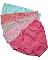 5er Vorteilspack Damen Slips Unterhosen aus Baumwolle Damen Pantys