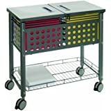 Vertiflex File Mobile Cart with Locking Lid, 29.125 x 14 x 28.375 Inches, Matte Gray (VF52001)