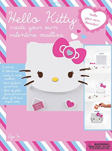 Paper Magic 32CT CYO Create Your Own Mailbox Hello Kitty Kids Classroom Valentine Exchange Box