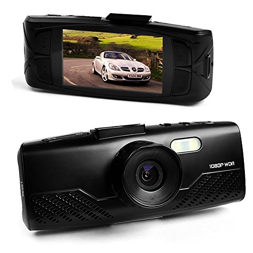 """E-Prance New At700 2.7"""" 1080 30Fps Car Dvr Video Camera + G-Sensor + Car Plate Stamp + Led Night Vision + Mov + 148 Degree Wide Angles + Sos + Support Hdmi/Av Out + 32Gb Memory Card"""