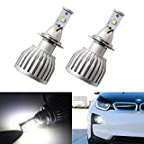 iJDMTOY® 6000K Xenon White 20W High Power CREE XM-L H7 LED Replacement Bulbs For Fog Lights or Headlamps