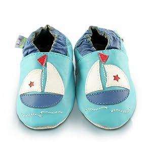 Snuggle Feet - Suaves Zapatos De Cuero Del Bebé barquito en Bebe Hogar