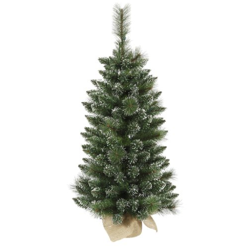 3 Ft. Pvc Christmas Tree - Frosted - Snow Tip Pine/Berry - 134 Tips - Unlit - Vickerman B106436