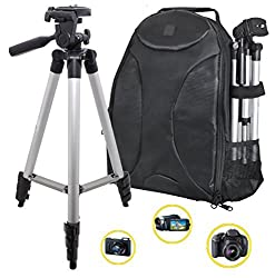 PHOTOGRAPHY: 50 Tripod & Sleek Digital SLR Camera/Camcorder Padded Backpack For The Photo Enthusiast or Casual Photographer! (Nikon Canon Sony Samsung)