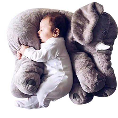 Willcomes Baby Stuffed 3D Animal Plush Toys Long Nose Elephant Cushion Lumbar Pillow Comfort Doll for Children, Decoration, Gifts (Recliner Cycle compare prices)