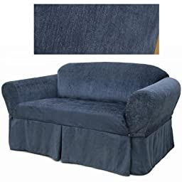 Chenille Navy Blue Furniture Slipcover Loveseat 231