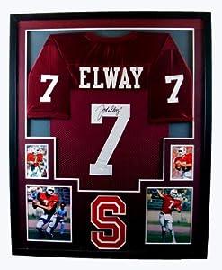 John Elway Framed Jersey Signed JSA COA Autographed Stanford Cardinal Broncos