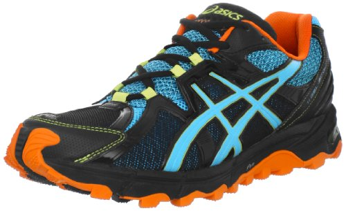 Asics Men'S Gel-Scout Trail Running Shoe,Black/Horizon Blue/Orange,11 M Us