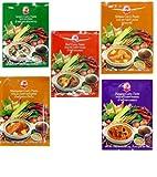 COCK 5 verschiedene Curry Paste je 50g [Rote