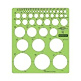 Staedtler Combo Circle Template, 45 Circles to 2.25 Inches, 7.25 x 8.25 Inches, Green (977110)