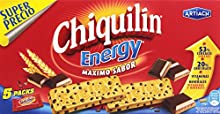 Chiquilin Energy Maximo Sabor Galleta con Gotas de Chocolate - Pack de 5 x 40 g - Total: 200 g