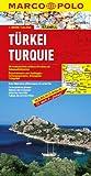 Turquie - Carte routière et touristique - Avec 7 plans de centres-villes : Adana, Ankara, Antalya, Istanbul, Izmir, Kayseri et Trabzon (Trapézonte) - ... de Kibris (Chypre) - Echelle : 1/800 000