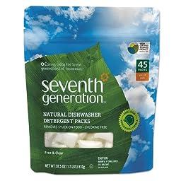 SEV22897 - Seventh Generation Natural Dishwasher Detergent Packs