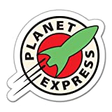 "Futurama Planet Express cartoon sticker 4"" x 5"""