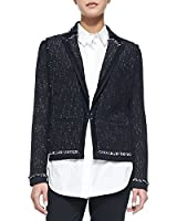 Vince Soft Boucle Jacket in Coastal Blue
