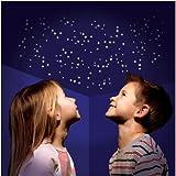 350 Teile Set Leucht Sterne Sternenhimmel nachtleuchtende UV Sticker für