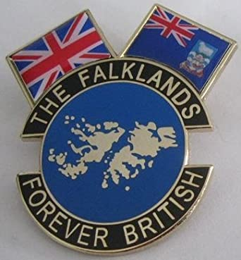 The Falklands The Falkland Islands and Union Jack Flag Forever British Lapel Pin Badge