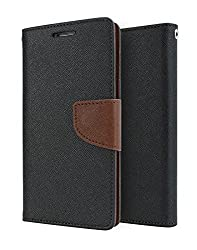 SDO Luxury Mercury Diary Wallet Style Flip Cover Case for Lenovo K3 Note - Brown with Clear Screen Guard