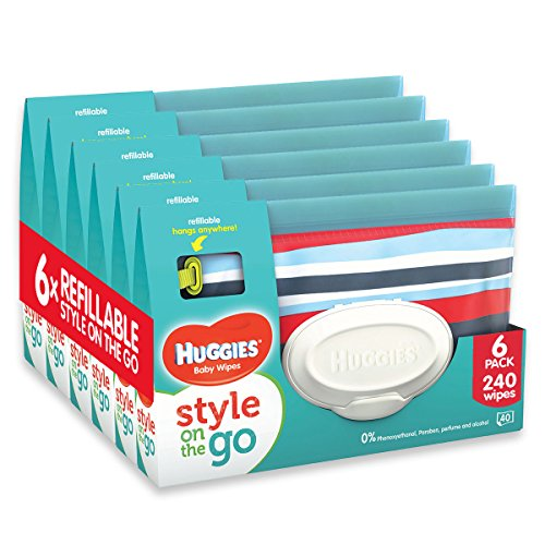 Huggies Style on the Go Pouch con 40 salviette (confezione da 6, totale 240 salviette)