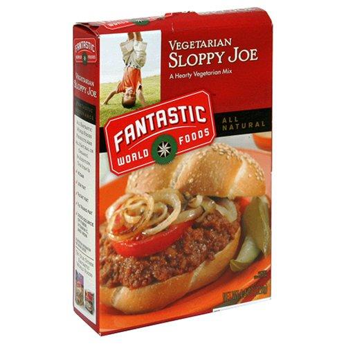 Fantastic Foods Vegetarian Sloppy Joe Mix, 4.4-Ounce Boxes (Pack of 12)