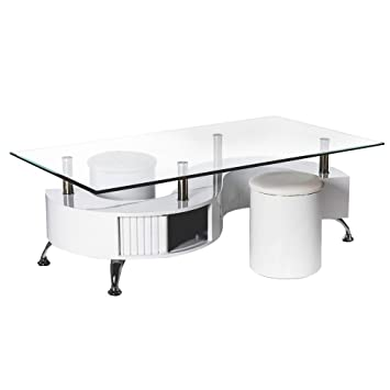 Tavolino con due sgabelli. (130x 70x 43cm)