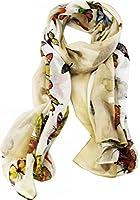 KukuBird Butterfly Colour print long shawls / scarves / wraps / head scarf / pashmina