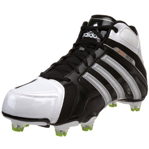 adidas Men's Scorch Destroy D Mid Football Shoe,Black/Running White/Metallic Silver,9 D US