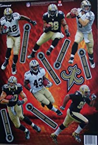 New Orleans Saints 2013-14 FATHEAD Team Set of 7 Official NFL Vinyl Wall Graphics -... by Fathead