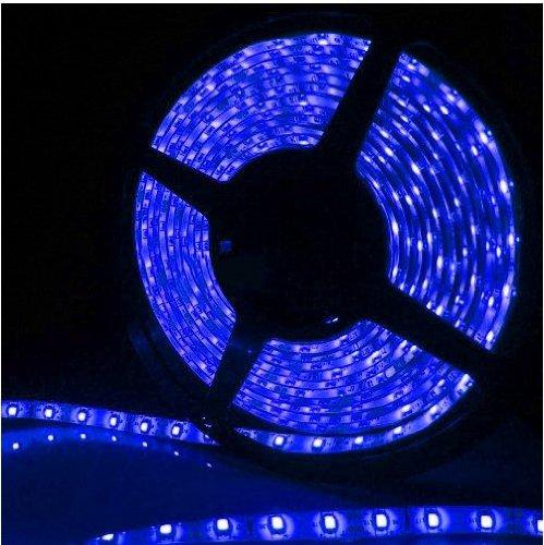 Epartsdom@ 16.4Ft 5M Smd 5050 Blue Waterproof Led Flexible Flash Strip 300 Leds Led Light Strip 60Leds/M