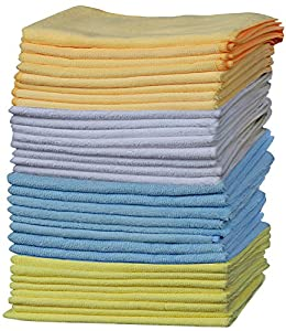 OxGord Microfiber Cleaning Cloth - Duster Rag Sponge for Car Wash Auto Care Thick Large for Glasses Kitchen Dish