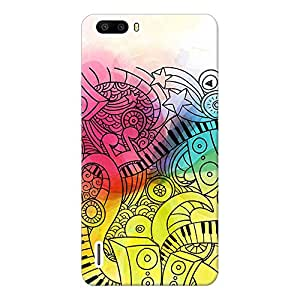 INKIF Music Symbol Abstarct Design Designer Case Printed Mobile Back Cover for Huawei Honor 6 Plus(Multicolor)