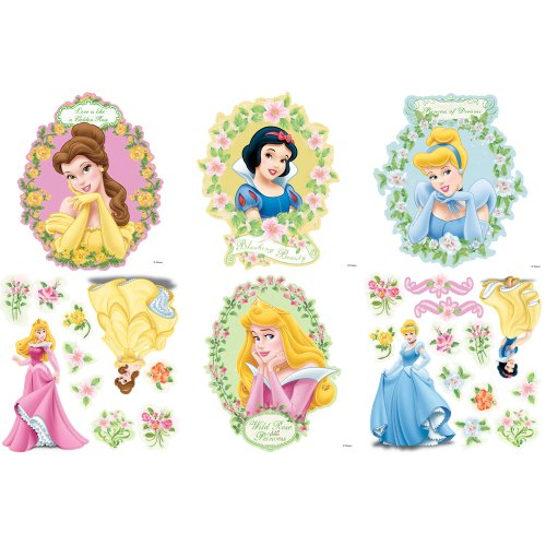 Blue Mountain Wallcoverings 31720454 Princess Magical Garden Self-Stick Decorating Kit - 1