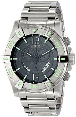 Invicta Mens 13924 Luminary Chronograph Display Quartz Stainless Steel Tritium Swiss ISA Black Dial Watch