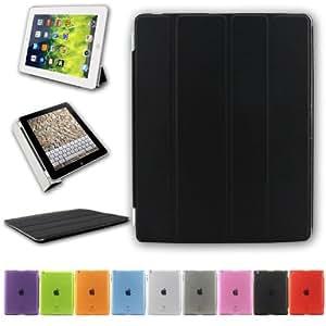 BESDATA® Apple iPad Smart Housse de protection en polyuréthane pour iPad 2/3/4 - Noir - PT2600