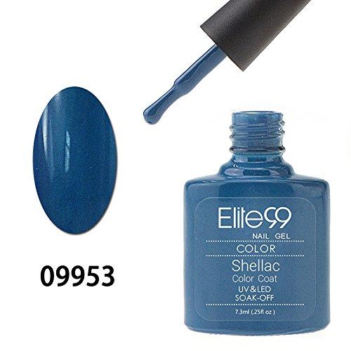 Elite99 Smalto Semipermanente Gel UV LED Serie Shellac Colore 7.3ml Steel Blue