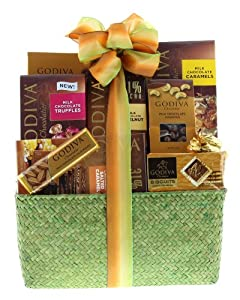 Wine.com Milk Chocolate Gift Basket Containing Godiva Chocolate