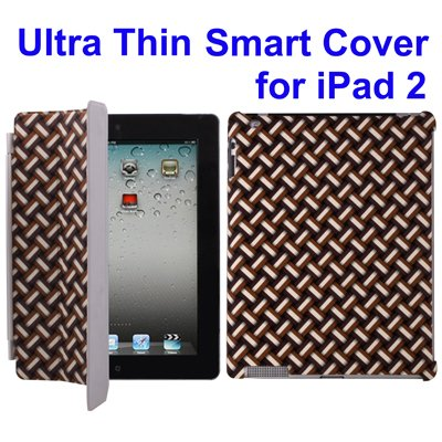InkPlusToner IPAD2-J1319B Ultra Thin Smart Cover for iPad 2 (Brown)