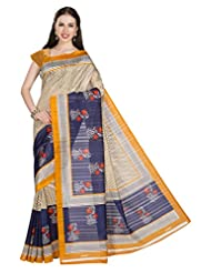 ISHIN Bhagalpuri Silk Multicolor Printed Saree