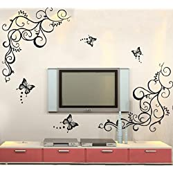 [Best price] Kids&#039 - Butterfly Feifei Wisteria Flowers Vine Art Vinyl Wall Decal Stickers Home Decor - toys-games