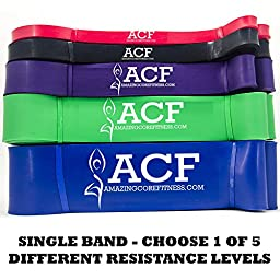 ACF Pull Up Assist & Resistance Bands for Cross Fitness Training & Powerlifting
