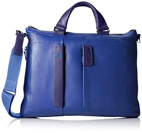 Piquadro CA1618P15/BLU Cartella, Linea Pulse, Blu, 42 cm