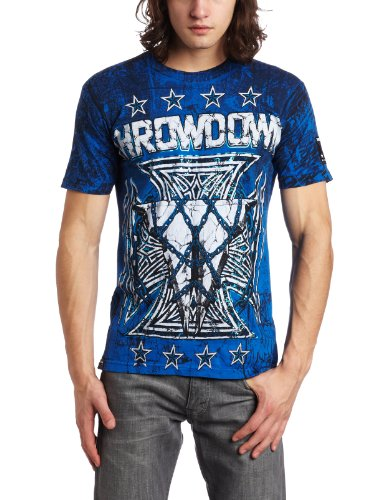Throwdown by Affliction Mens Terminator Short Sleeve Tee