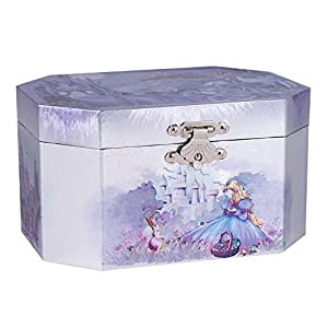 Purple castle musical music jewelry box with for Amazon ballerina musical jewelry box