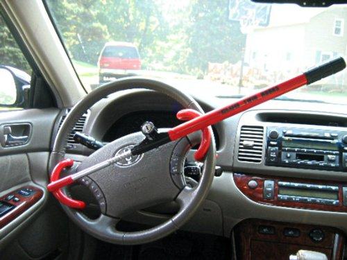 how to break the club steering wheel lock