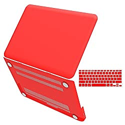 iBenzer - 2 in 1 Soft-Touch Plastic Hard Case Cover & Keyboard Cover for Macbook Pro 13'' A1278, Red MMP13RD+1