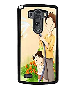 Printvisa Father Daughter Gardening Back Case Cover for LG G3::LG G3 D855