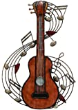 """Deco 79 Metal Music Wall Plaque, 22 by 15"""""""