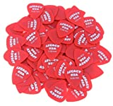 100 Pack of Legacy Guitar Picks, 0.58mm, Red, X-Light