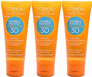 L'oreal Paris Advanced Suncare Ultra Clear Instant Cool Lotion SPF 30, for All Skin Types, 3.4 Ounce